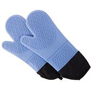 Extra-Long Professional-Quality Heat-Resistant Silicone Oven Mitts