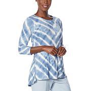 EZ by Nina Leonard Lounge Knit Tie Dye Tunic