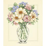 Flowers In Tall Vase Counted Cross Stitch Kit - 12x14