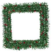 """Fraser Hill Farm 48"""" Oversized Square Wreath w/Pinecones & Berries"""