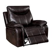 Furniture of America Cameron Leatherette Glider Recliner - Brown