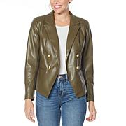 G by Giuliana Faux Leather Blazer
