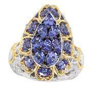 Gems by Michael 18K Goldtone Tanzanite Pear-Shape Ring