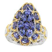 Gems by Michael Valitutti Two-Tone Tanzanite Pear-Shape Ring