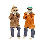 """Gerson Company 38""""H Battery Operated Skeletons Playing Harmonicas 2-pk"""