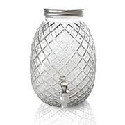 Gibson Home 1.2 Gallon Pineapple Clear Glass Drink Dispenser