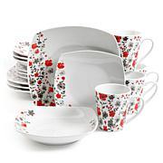 Gibson Home Rosalee Floral 16-piece Dinnerware Set