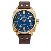 Giorgio Milano Blue Dial Brown Leather Strap Watch