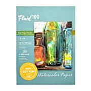 Global Art Fluid 100 Watercolor Paper EZ Blocks Hot Press 12x16 140lb