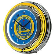 Golden State Warriors Double Ring Neon Clock