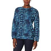 H Halston Studio French Terry Pullover Top