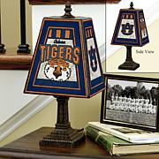 Handpainted Art Glass Team Lamp - Auburn - College