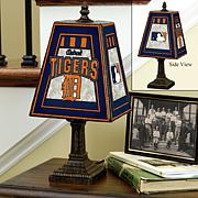 Handpainted Art Glass Team Lamp - Detroit Tigers - MLB