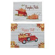 Harvest Lane 2-pack Fiber Optic Fall Pumpkin Canvases with Timer