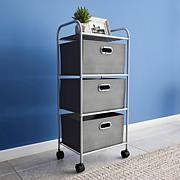 Hastings Home 3-Drawer Rolling Storage Cart