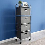 Hastings Home 4-Drawer Rolling Storage Cart