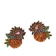 """Heidi Daus """"Bouquet Garni"""" Crystal Stud Earrings"""