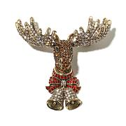 "Heidi Daus ""Magnificent Moose"" Crystal Pin"