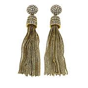 "Heidi Daus ""Old School Jewels"" Tassel Drop Earrings"
