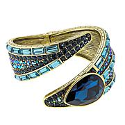"Heidi Daus ""Savvy Chic"" Crystal Hinged Bangle Bracelet"