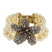 "Heidi Daus ""Star-Gazer"" 3-Strand Beaded Crystal Bracelet"