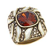 "Heidi Daus ""Tempting Tigress"" Crystal and Enamel Ring"