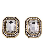 "Heidi Daus ""The Deco Trilogy"" Button Earrings"