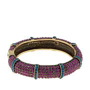 "Heidi Daus ""Timeless Treasure"" Hinged Bangle Bracelet"