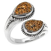 Himalayan Gems™ Goldtone Drusy Bypass Ring