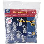 """Holiday Beaded Ornament Kit - Little Angels 2.5"""", Makes 18"""