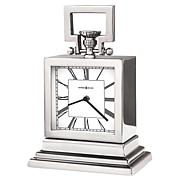 "Howard Miller ""Maxine"" Contemporary Chrome Polished Shelf Clock"