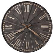 "Howard Miller ""Stockard"" Large Metal Wall Clock"