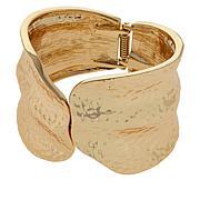IMAN Boho Chic Goldtone Hammered Bypass Cuff Bracelet