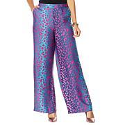 IMAN Boho Chic Printed Wide-Leg Pant with Pockets