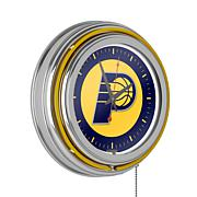 Indiana Pacers Double Ring Neon Clock