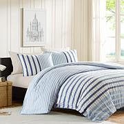 INK+IVY Sutton Cotton Duvet Cover Set - Blue