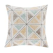 "INK+IVY Zelda Embroidered 18"" x 18"" Square Pillow- Blue"