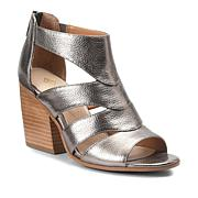 Isola Leather Block-Heel Wedge Sandal