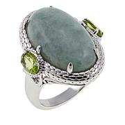 Jade of Yesteryear Burmese Jade and Peridot Ring
