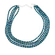"Jay King 5-Strand Lapis and Andean Blue Turquoise Bead 18"" Necklace"