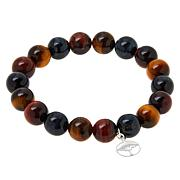 Jay King Multi-Color Hawk's Eye and Tiger's Eye Stretch Bracelet