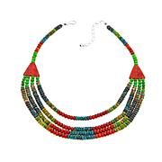 Jay King Multicolor Turquoise and Coral Bead Necklace