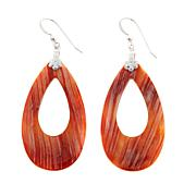 Jay King Red Spiny Oyster Shell Sterling Silver Earrings