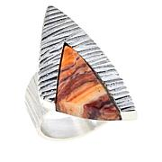 Jay King Sterling Silver Multi-Color Lion's Paw Shell Ring