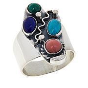 Jay King Sterling Silver Multi-Gemstone Elongated Ring