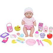 "JC Toys La Newborn Nursery 12"" Caucasian Baby Doll 25-Piece Gift Set"
