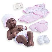 "JC Toys La Newborn Nursery 14"" African American Baby Doll Gift Set"