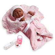 """JC Toys La Newborn Nursery 15.5"""" African American Soft Baby Doll Set"""