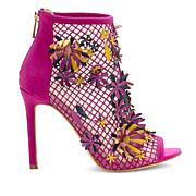 Jessica Simpson Jayko Fishnet Mesh Floral Dress Shootie