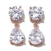 "Joan Boyce ""Don't Be Square, Be Pear"" Drop Earrings"